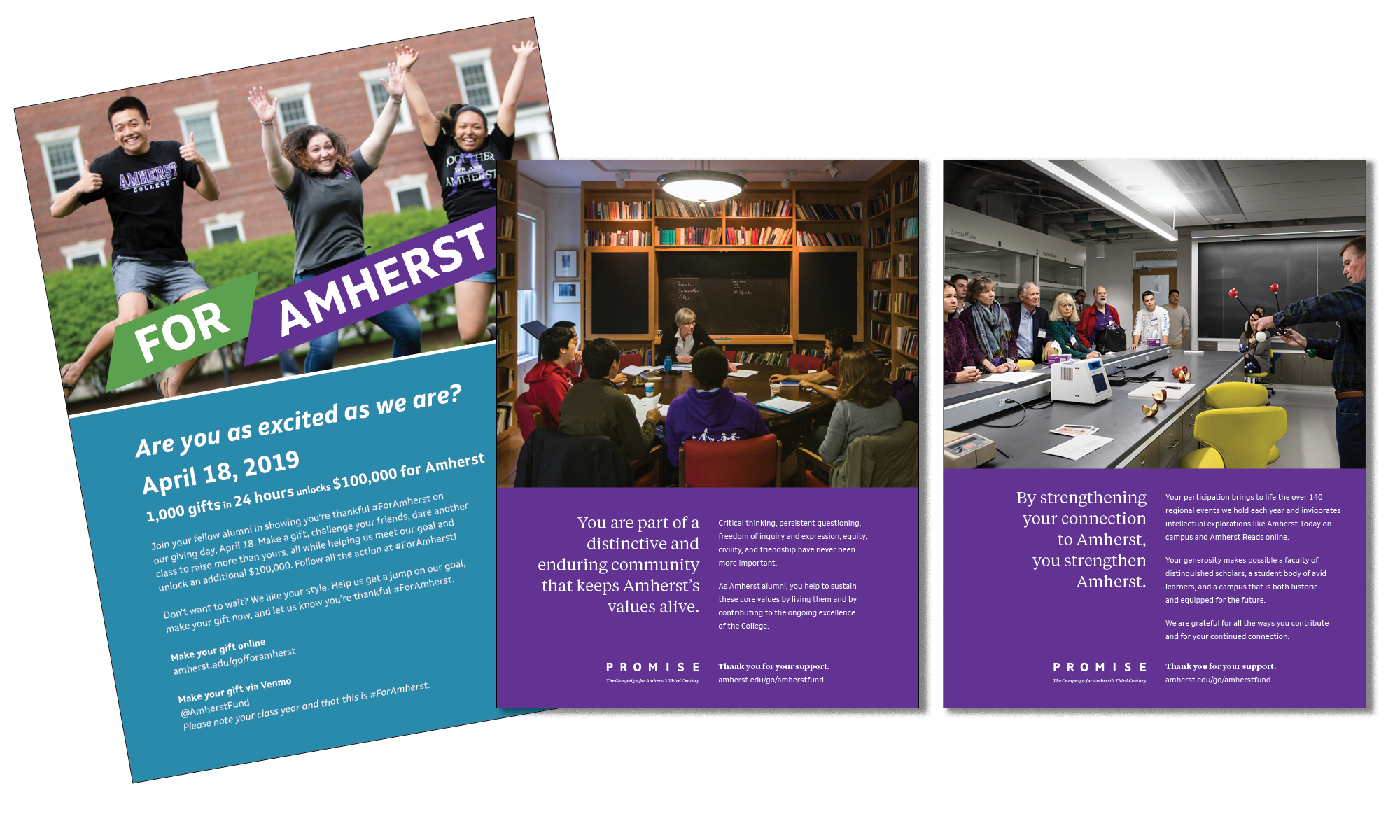 Amherst College ad collage